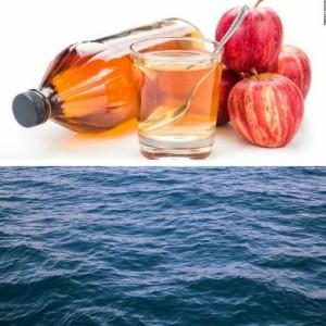 apple cider vinegar and water
