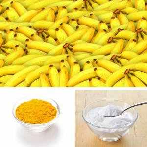 banana baking soda and tumeric face mask