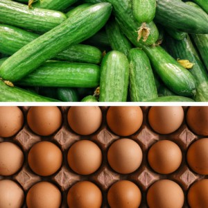 cucumber and eggs