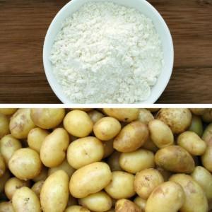 potatoes and gram flour