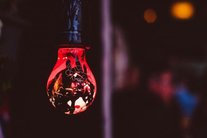 red light bulb