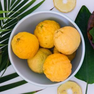 lemons in a plate