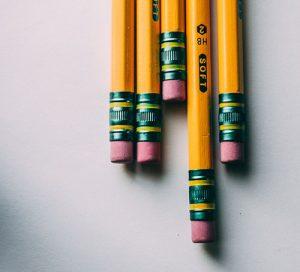 pencils gum erasers